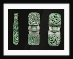 A group of jadeite belt hooks and buckles by Corbis