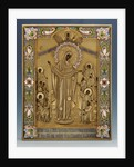A shaded enamel silver-gilt icon of the Mother of God by Klebnikov, Moscow, 1899-1908 by Corbis