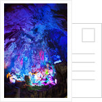 Multi Colored Lights in the Reed Flute Cave by Corbis