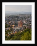 Evening City View from above City with Parroquia Archangel Church San Miguel de Allende by Corbis