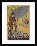 Cycles Automoto St Etienne French Advertising Poster by Corbis