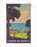 Evian Les Bains, French PLM Railway Gold Poster by Corbis
