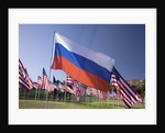 US and Russian Flag by Corbis