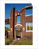 Deserted red brick apartments East St. Louis by Corbis