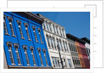 Brightly colored store fronts, August, Maine by Corbis