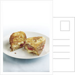 Grilled cheese with prosciutto by Corbis
