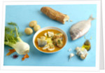 Bouillabaisse and ingredients by Corbis