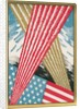American Flag with Fireworks by Corbis