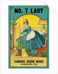 Advertisement for Hamburg Broom Works with Sweeping Maid by Corbis