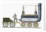 Locomotive designed in 1814 by British engineer and inventor George Stephenson (1781-1848). by Corbis