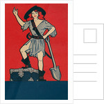 Pirate Woman with Treasure and Shovel by Corbis