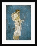 Roman fresco of Diana with her bow and arrow by Corbis