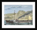 Robert Fulton's steamboat. by Corbis