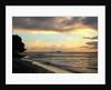 Sandy Lane beach at sunset by Corbis