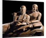 Detail of Etruscan Sarcophagus of the Spouses by Corbis