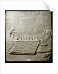 Marble carved tablet depicting Roman trireme ship by Corbis