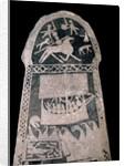 Runestone depicting a Viking longship by Corbis