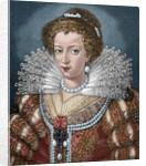 Elisabeth of Austria (1554-1592). Engraving. Colored. by Corbis