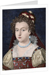 Elizabeth of York (1466-1503). Engraving. Colored. by Corbis