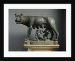 Bronze sculpture of Capitoline Wolf by Corbis