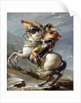 Napoleon Bonaparte, First Consul, Crossing the Alps at Great St. Bernard Pass by Jacques-Louis David