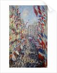 The Rue Montorgueil in Paris, Celebration of June 30, 1878 by Claude Monet