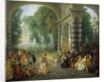 Pleasures of the Ball by Jean Antoine Watteau