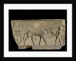 Frieze with a procession of worship scene by Corbis