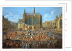 The Departure of Louis XV by by Pierre Denis Martin