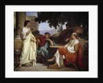 Horace, Virgil and Varius at the house of Maecenas by Charles Francois Jalabert
