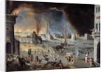 The fall of Trojan - Scene of the Trojan War by Jean Maublanc
