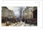 Bombing scene in Paris by the Prussian armies on January 1871 by Henri Felix Philippoteaux