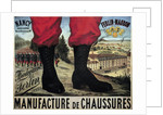 Poster for the manufacture of military shoes boots Ferlin-Maubon by Corbis