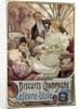 Advertising poster for Biscuits Champagne by Alphonse Mucha