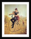 History of the bicycle : woman pedaling her bicycle by Corbis
