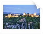 Evening Lights from the Alhambra Palace by Corbis