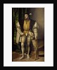 Portrait of Emperor Charles V with His Dog by Jakob Seisenegger