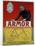 """Advertising poster for the bike """"Armor"""" by Corbis"""