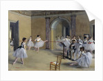 The Dance Foyer at the Opera Rue Le Peletier by Edgar Degas