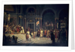 Godfroy of Bouillon making a act of allegiance to the Byzantine by Alexandre Hesse