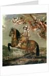 Equestrian portrait of Alberte Barbe d'Ernecourt by Claude Deruet