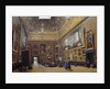 """View of the """"Grand Salon Carre in the Louvre"""" by Giuseppe Casti"""