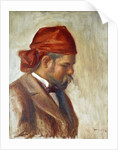 Ambroise Vollard in a Red Scarf by Pierre-Auguste Renoir