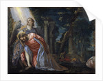 Christ in the garden supported by an angel by Paolo Veronese