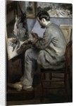 Frederic Bazille at his Easel by Pierre-Auguste Renoir