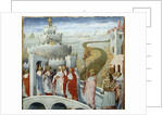 Procession of Pope Gregory I the Great at the castle of St. Angelo by Giovanni di Paolo