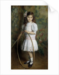 Artist's daughter with a hoop by Alexis Axilette