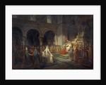 Sacre of Pepin the Short by the Pope Stephen II at the Abbey of Saint Denis by Dubois Francois