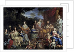 King Louis XIV and his family dressed up in mythological figures by Jean Nocret