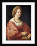 Portrait of a Woman with a Basket of Spindles by Pontormo